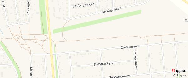 Степная улица на карте села Киргиза-Мияки с номерами домов