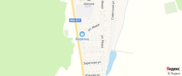Комсомольская улица на карте села Родниковки с номерами домов