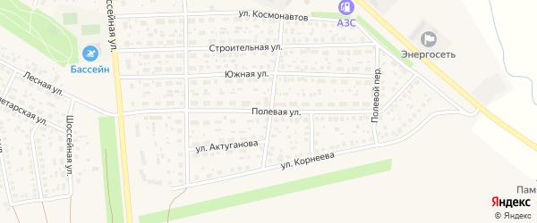 Полевая улица на карте села Киргиза-Мияки с номерами домов