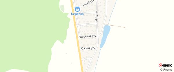 Заречная улица на карте села Родниковки с номерами домов
