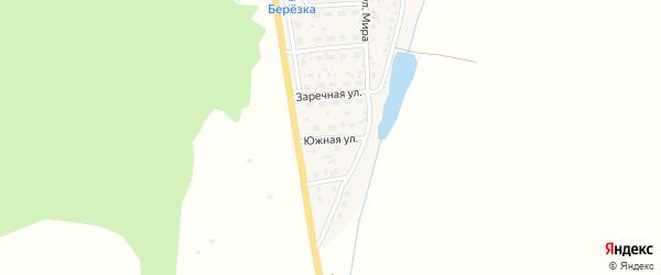 Южная улица на карте села Родниковки с номерами домов