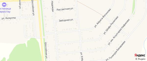 Светлая улица на карте села Киргиза-Мияки с номерами домов