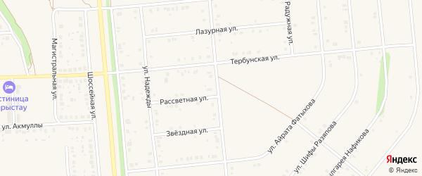 Звездная улица на карте села Киргиза-Мияки с номерами домов