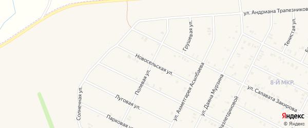 Новосельская улица на карте Дюртюлей с номерами домов