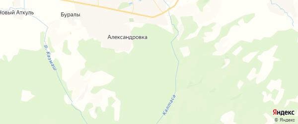 Карта Амзибашевского сельсовета республики Башкортостан с районами, улицами и номерами домов