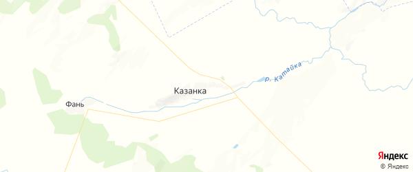 Карта Шафрановского сельсовета республики Башкортостан с районами, улицами и номерами домов