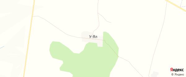 Карта деревни У-Яла в Башкортостане с улицами и номерами домов
