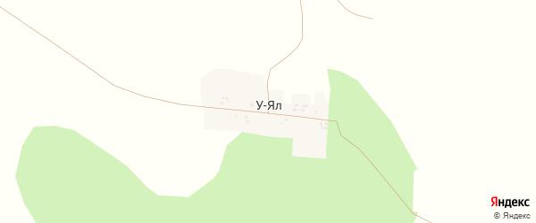 Лесная улица на карте деревни У-Яла с номерами домов