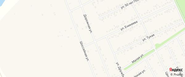 Дорожная улица на карте села Иванаево с номерами домов