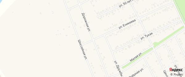 Дорожная улица на карте Агидели с номерами домов