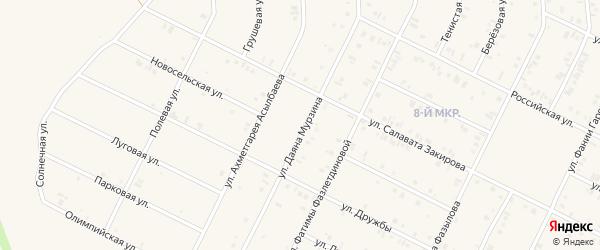 Улица Ахметгарея Асылбаева на карте Дюртюлей с номерами домов