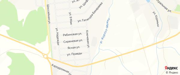 Карта села Садового в Башкортостане с улицами и номерами домов