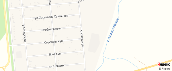 Лесная улица на карте деревни Кашкарово с номерами домов