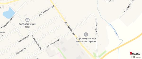 Палантая улица на карте села Калтасов с номерами домов