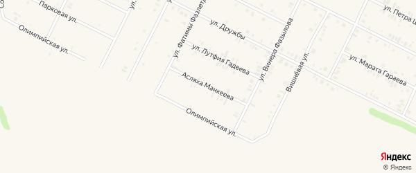 Улица Асляха Манкеева на карте Дюртюлей с номерами домов