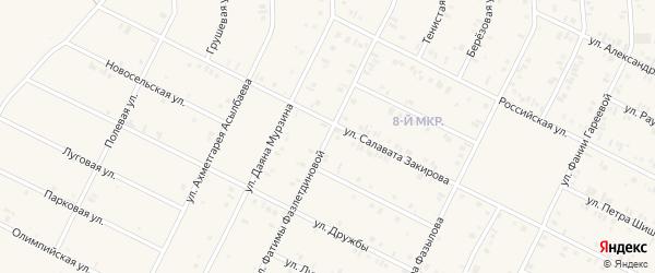 Улица Фатимы Фазлетдиновой на карте Дюртюлей с номерами домов