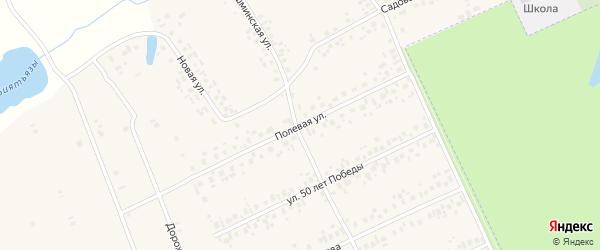 Полевая улица на карте села Иванаево с номерами домов