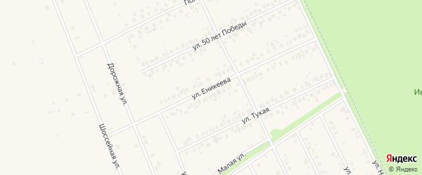 Улица Еникеева на карте села Иванаево с номерами домов