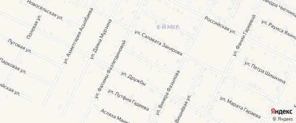 Улица Раушана Салихова на карте Дюртюлей с номерами домов