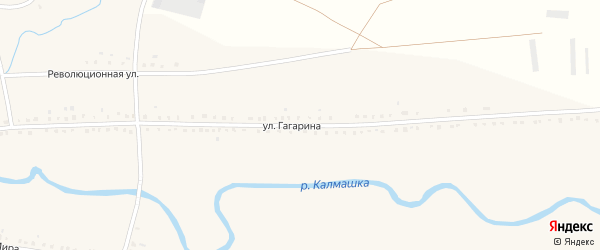 Улица Гагарина на карте села Старокалмашево с номерами домов