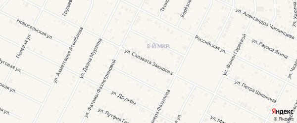 Улица Салавата Закирова на карте Дюртюлей с номерами домов
