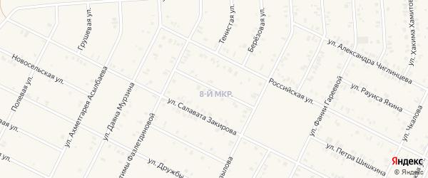 Улица Виля Казыханова на карте Дюртюлей с номерами домов