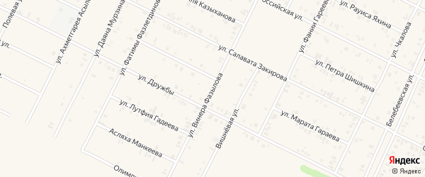Вишневая улица на карте Дюртюлей с номерами домов