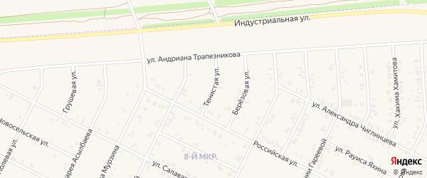 Тенистая улица на карте Дюртюлей с номерами домов