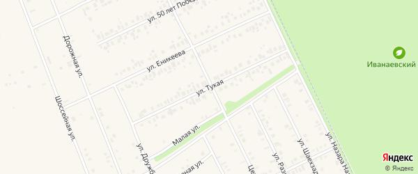 Тукая улица на карте села Иванаево с номерами домов