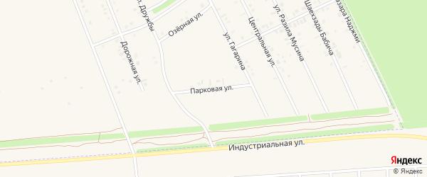 Парковая улица на карте Дюртюлей с номерами домов