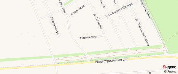 Парковая улица на карте села Иванаево с номерами домов