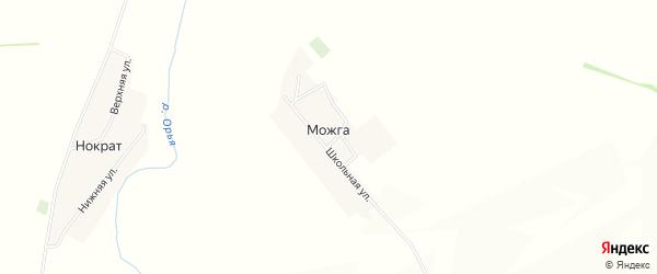 Карта деревни Можги в Башкортостане с улицами и номерами домов