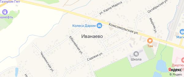 Новая улица на карте села Иванаево с номерами домов
