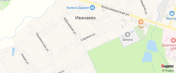 Садовая улица на карте села Иванаево с номерами домов