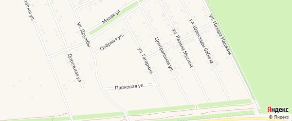 Улица Гагарина на карте села Иванаево с номерами домов