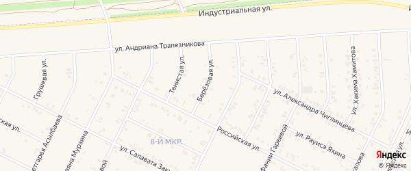 Березовая улица на карте Дюртюлей с номерами домов