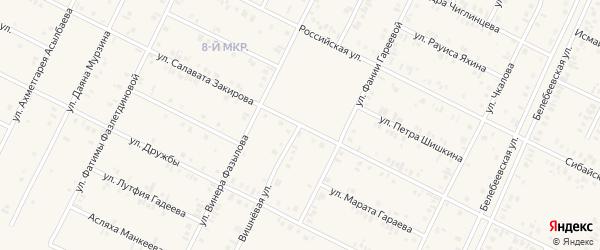 Улица Фаузии Кагармановой на карте Дюртюлей с номерами домов
