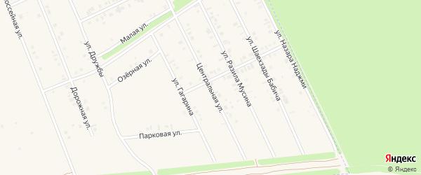 Центральная улица на карте села Иванаево с номерами домов