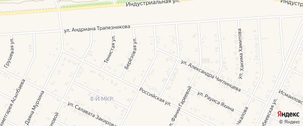 Улица Винера Фазылова на карте Дюртюлей с номерами домов