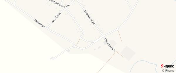 Полевая улица на карте деревни Нижнеибраево с номерами домов