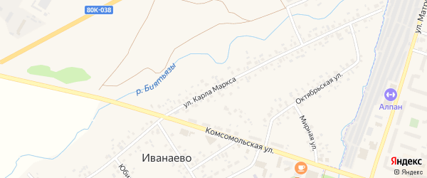 Улица К.Маркса на карте села Иванаево с номерами домов