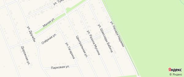 Улица Салавата Юлаева на карте села Иванаево с номерами домов