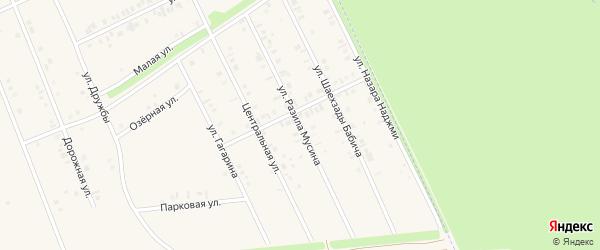 Улица Разила Мусина на карте села Иванаево с номерами домов