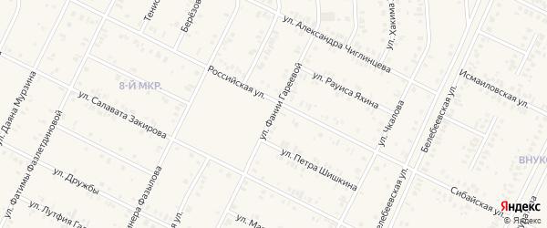 Улица Фании Гареевой на карте Дюртюлей с номерами домов