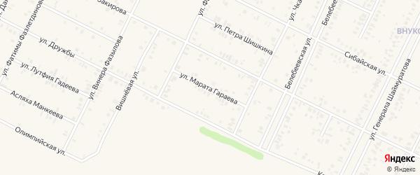 Улица Марата Гараева на карте Дюртюлей с номерами домов