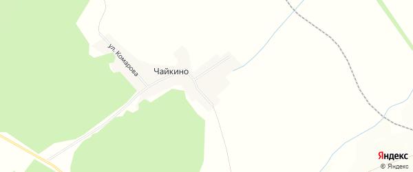 Карта хутора Чайкино в Башкортостане с улицами и номерами домов