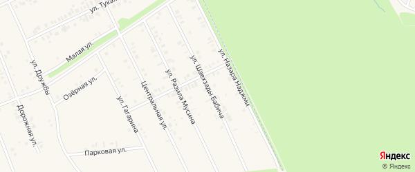 Улица Шаехзады Бабича на карте села Иванаево с номерами домов
