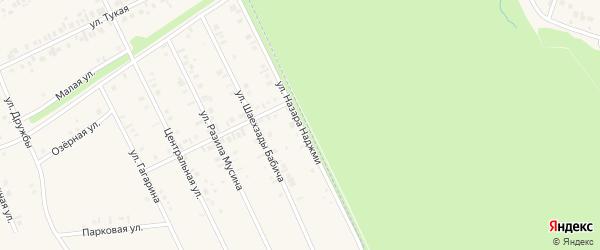 Улица Назара Наджми на карте села Иванаево с номерами домов