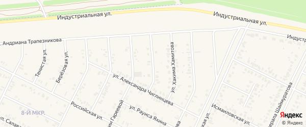 Улица Фариды Кудашевой на карте Дюртюлей с номерами домов