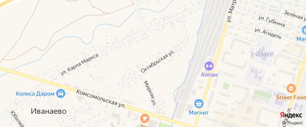 Октябрьская улица на карте села Иванаево с номерами домов